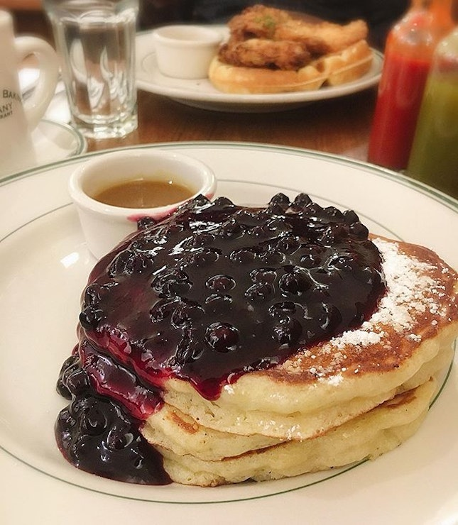 Pancakes with Warm Maple Butter ($19)