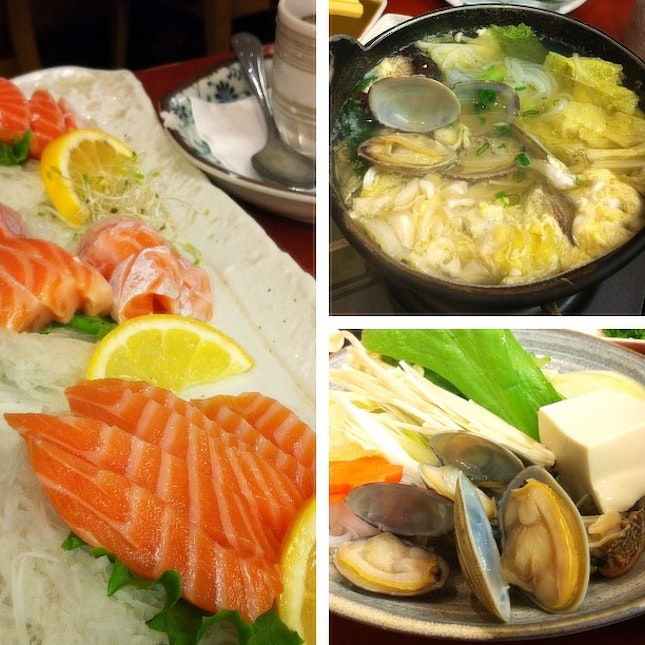 Lunch~  @robbie_goh @stanyeow  #food #japanese #sushi #zanmai #salmon #lunch #sunday
