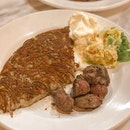 $12 Rosti With Beef Chunks