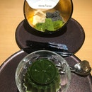 Warabi Mochi And Matcha Pudding