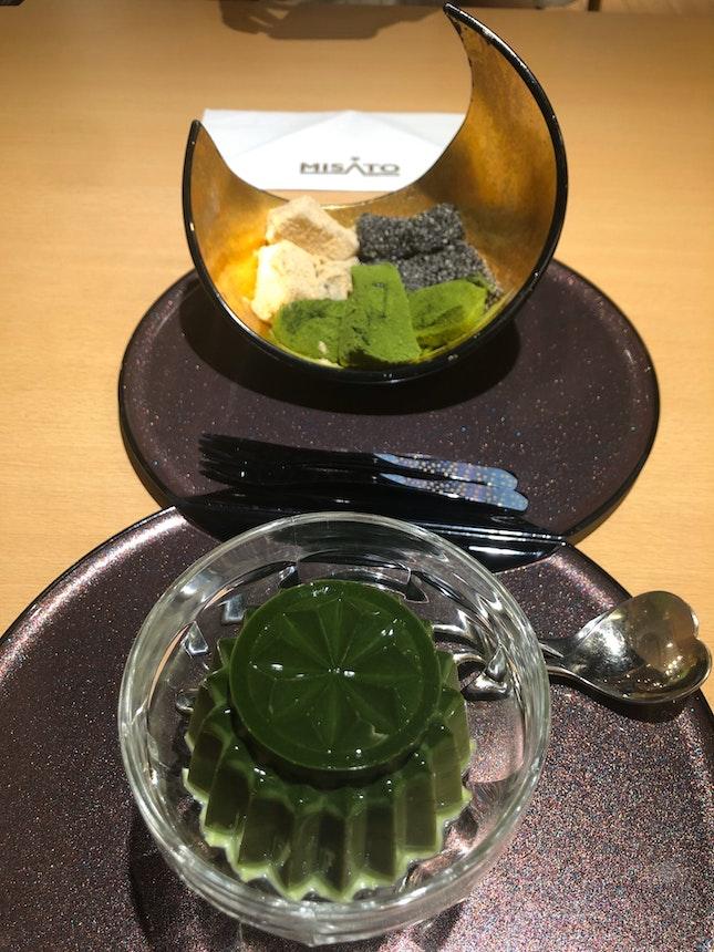 Warabi Mochi And Matcha Pudding