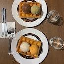 Waffles and Ice-cream