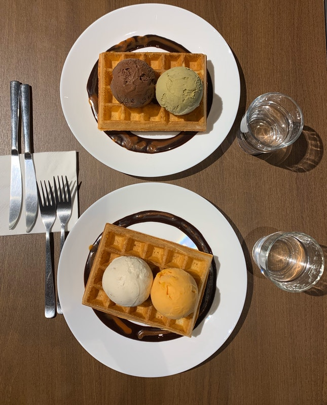 Waffles and Ice-cream