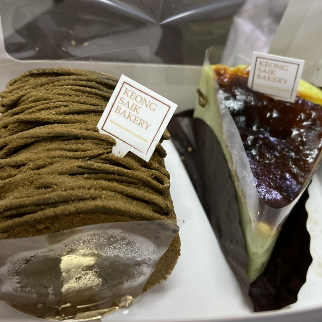Hojicha Swiss Roll & Pandan Cheesecake