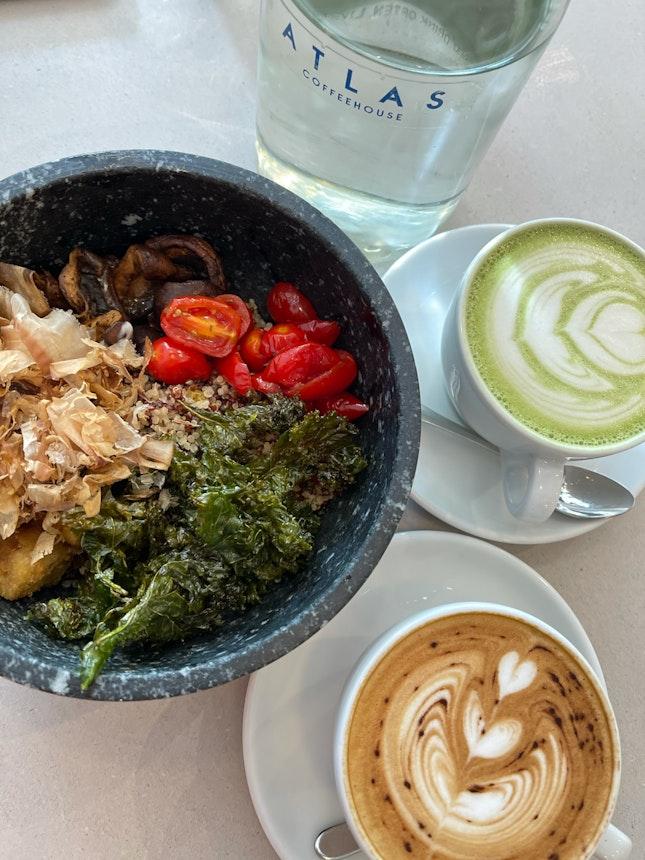 Matcha, Coffee, And Japanese Rice Bowl