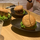 Decent burgers meh service