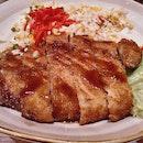 Pork katsu fried rice
