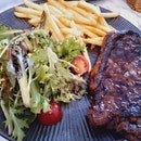 Nicely Done Medium Rare Sirloin Steak
