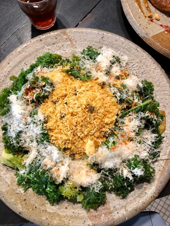 Sautéed Kale and Egg White Scramble ($22)
