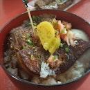 Wagyu & Pork Cheeks With Foie Gras And Onsen Egg $16