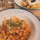 Truffle Mushroom Carbonara &, Chilli Crab Pasta