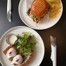 Fried Chicken Burger & Potato hash