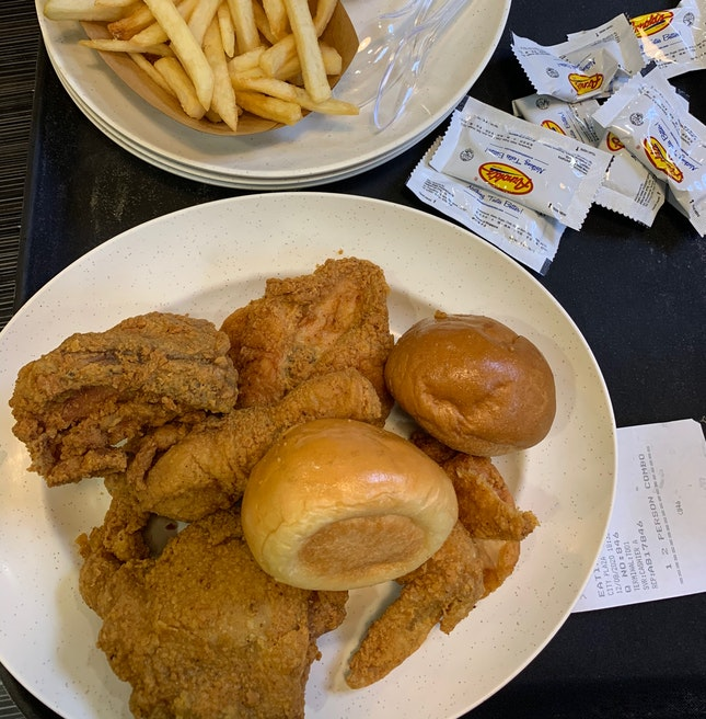 Crunchy and juicy fried chicken