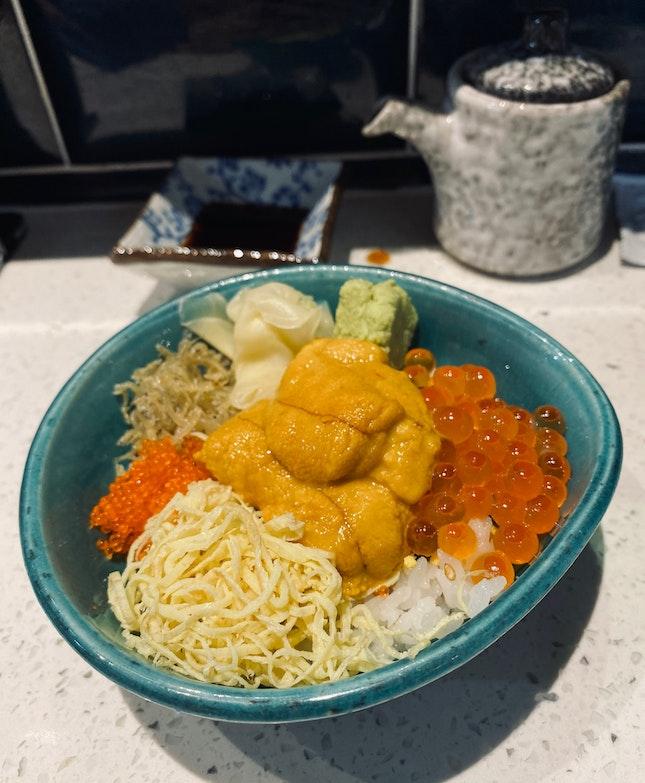 Uni Ikura Ribeye Lunch Set