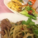 Aglio Olio With Mutton, Vintage Omelette.