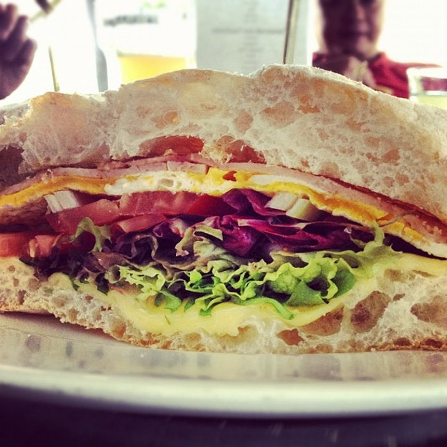 #turkey #ham and #cheese #omelette #sandwich