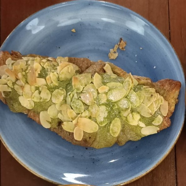 Green Tea Almond Croissant ($4.5)
