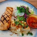 Grilled Salmon With Mash