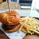 Burger With Caramelised Onions