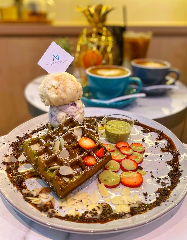Matcha Moments Waffles
