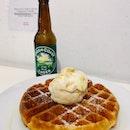Waffle with Honeycomb Ice Cream ($9.50)