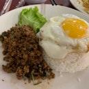 Thai Basil Minced Pork w/ Rice ($5.80)