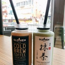 Cold Brew White ($6.50), Matcha Milk ($7.50)