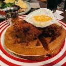 Stinky Har Cheong Gai Waffle ($19)
