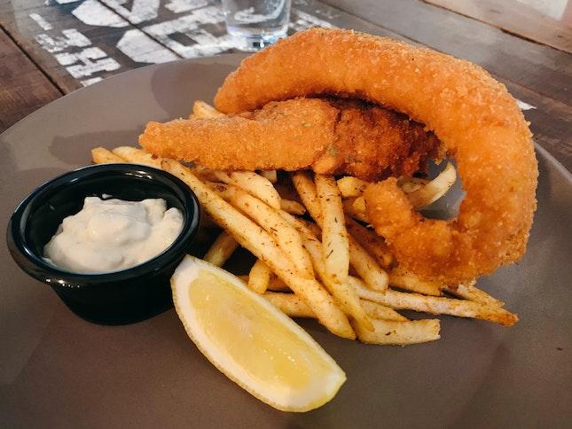 Catfish & Chips ($22)