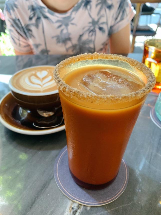 Nitro Honey Oat Latte ($9.50), White ($6)