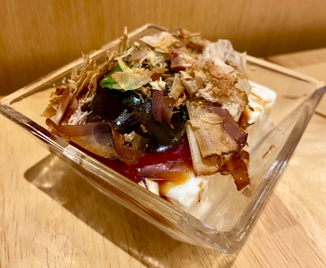 Chilled Silken Tofu With Century Egg ($3++)