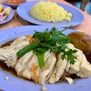 Roasted Chicken Rice (+ Meat + Egg) | $8