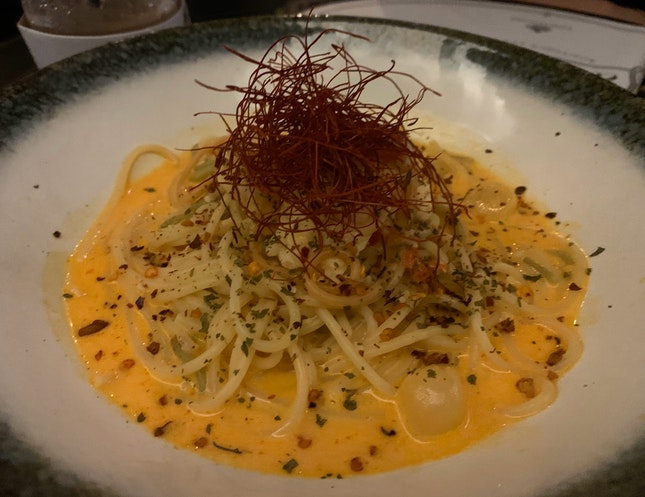 Sea Chanty - Spicy Crayfish Spaghetti   $20