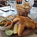 Tiger Beer-Battered Fish & Chips | $32 + $5