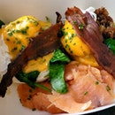 Eggs Ben-jamin W/ Smoked Salmon | $25