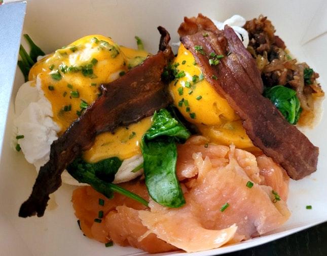 Eggs Ben-jamin W/ Smoked Salmon   $25