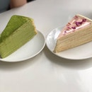 Lady M - Matcha and Rose Mille Crepe Expensive dessert but doesn't disappoint!