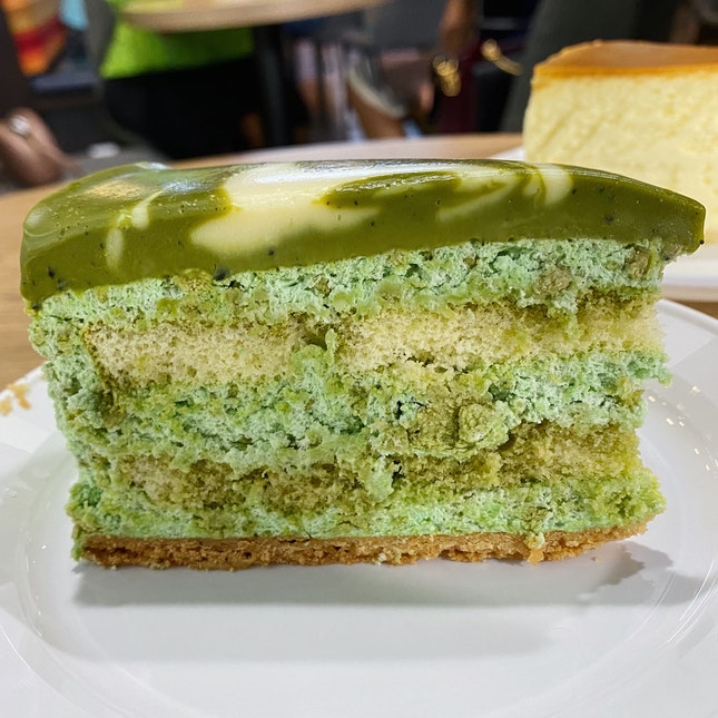 Matcha Cheesecake W/ Kit Kat