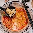 Pumpkin Seafood Noodles