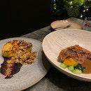 Grilled Cauliflower & Braised Duck