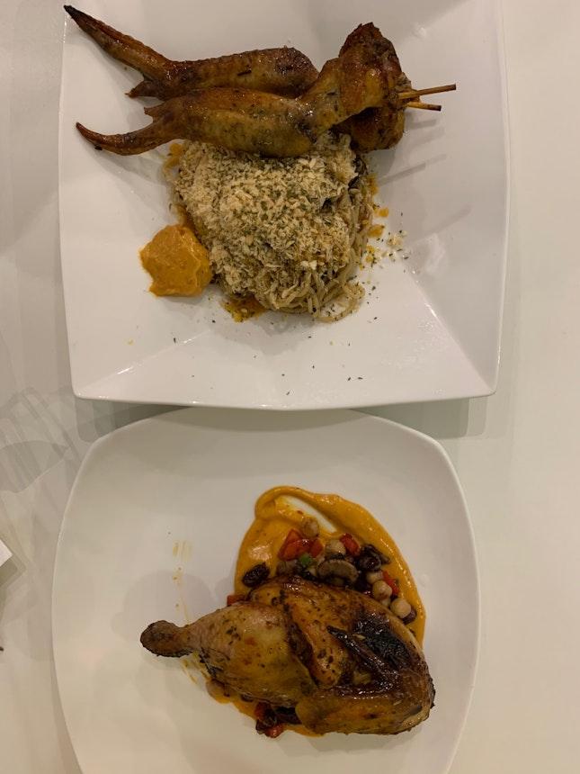 Turmeric Wings Aglio Olio & Turmeric Chicken