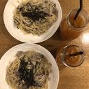 Truffle Cheese Sphaghetti, Poppy Lemon Tea
