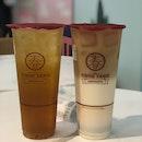 Honey Osmanthus Oolong Tea and Oolong Latte Milk Tea W Pudding