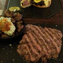 Steak, Burger and Potatoes