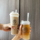 White Peach Oolong & Roasted Oolong Milk Tea