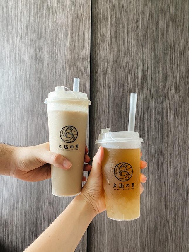 White Peach Oolong & Roasted Oolong Milk Tea