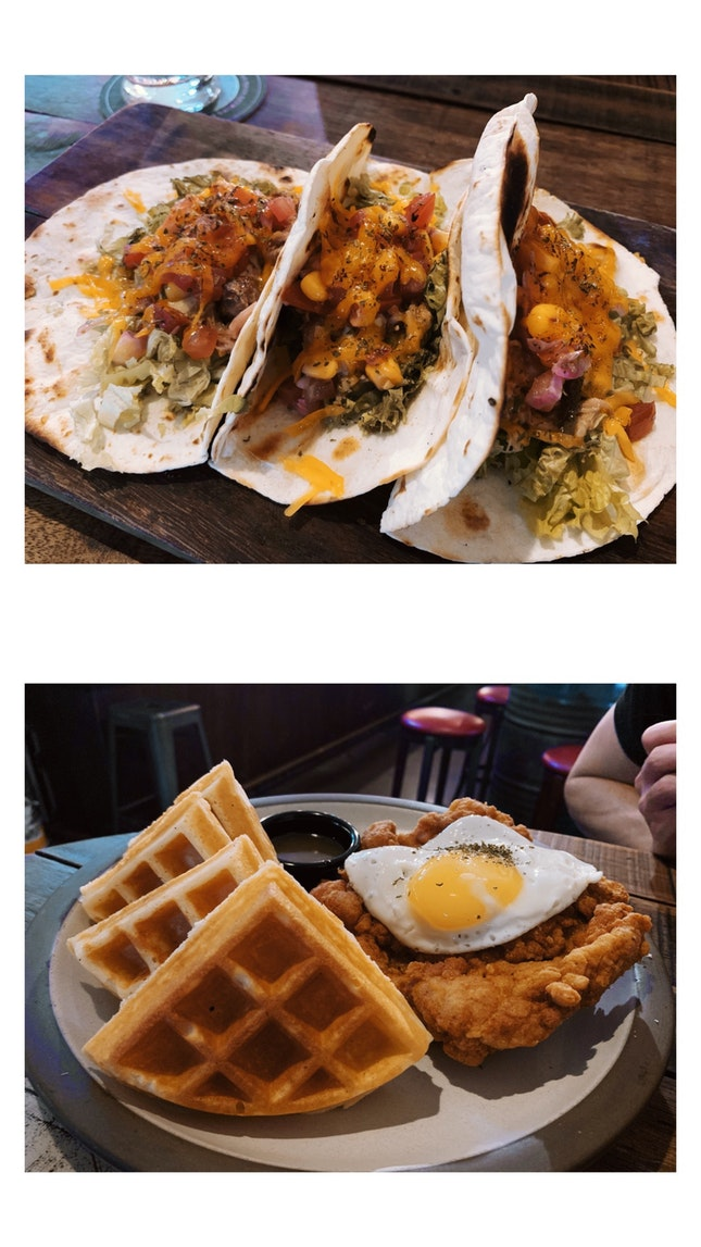 Pulled Pork Tacos / Chicken & Waffles