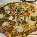 Scallop, Squid And Herb Pizza