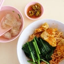 Wanton noodles with fried/steamed wanton & no char Siew!