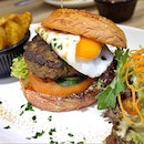 I can't decide which beef burger is nicer, so I post both 🙊 *sorry!* [BEEF & EGG BURGER S$13.90] - 14 days dry aged beef patty with sunny-side up, onion, tomatoes, pickles, wedges & mixed greens.
